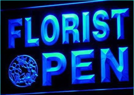 OPEN Florist Flower Shop Ads Ad Neon Light Sign